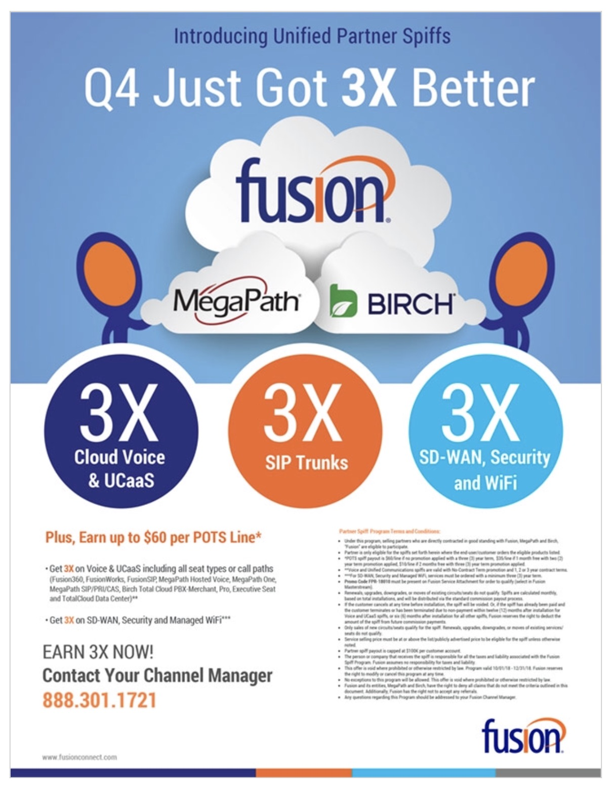 Fusion Unified Partner Spiffs for Q4 – 4 Days Left